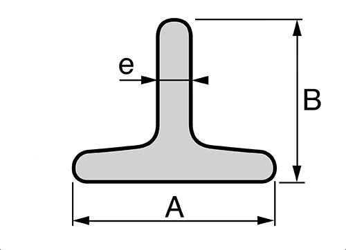 Croquis perfil en forma T